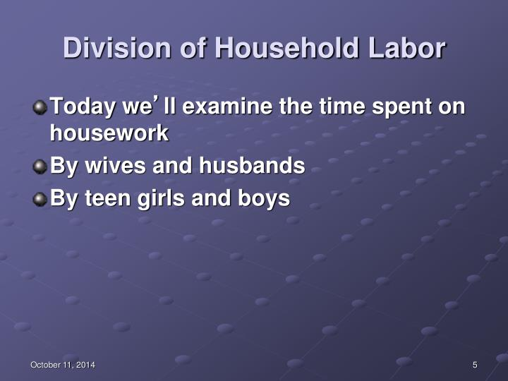 Division of Household Labor
