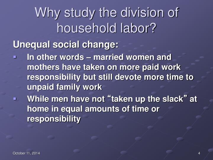Why study the division of household labor?