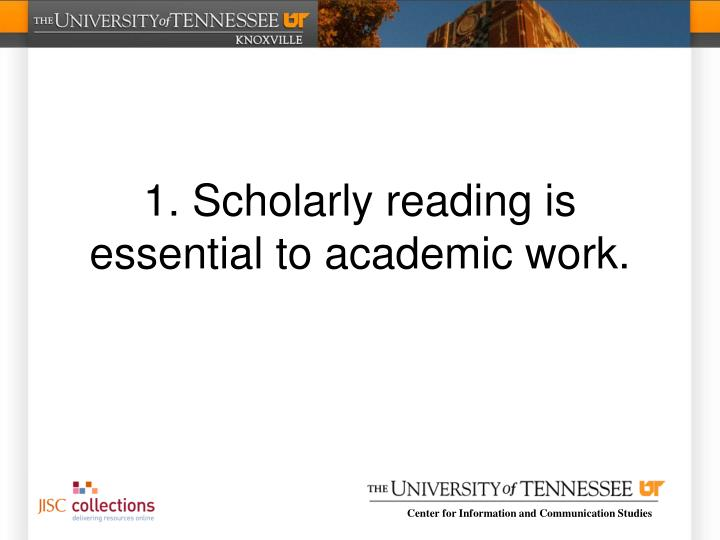 1. Scholarly
