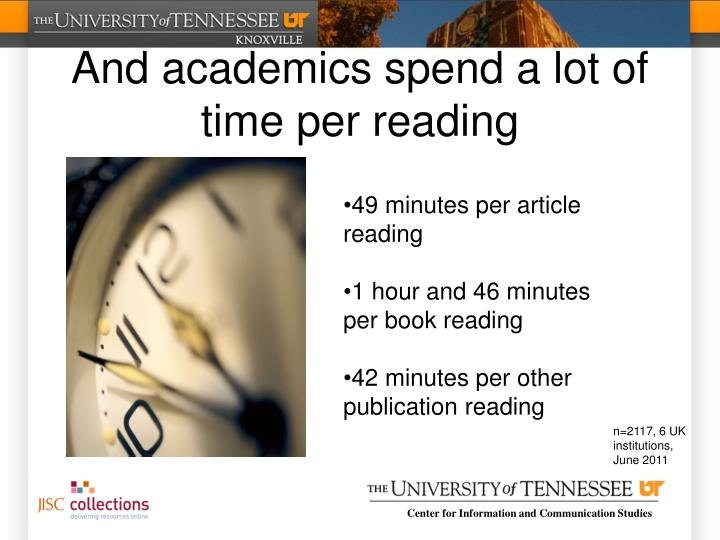 And academics spend a lot of time per reading