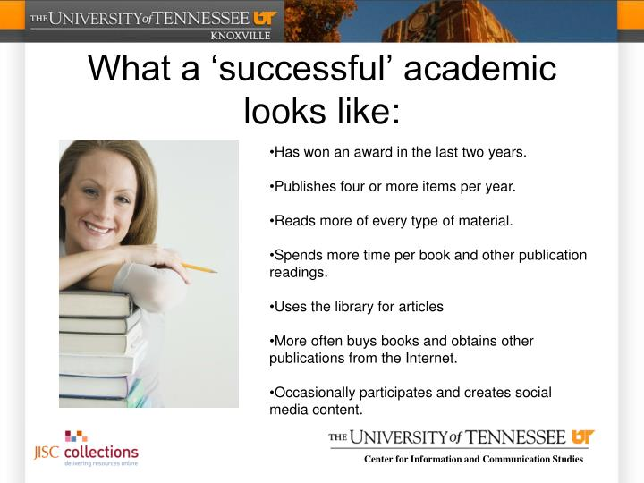 What a 'successful' academic looks like:
