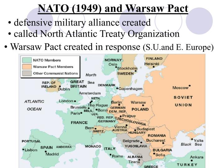 NATO (1949) and Warsaw Pact