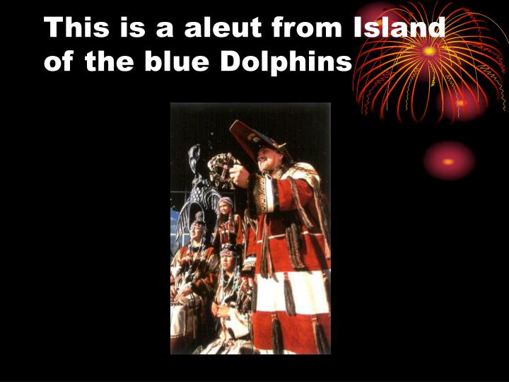This is a aleut from Island of the blue Dolphins