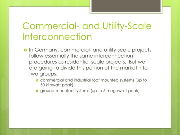 Commercial- and Utility-Scale