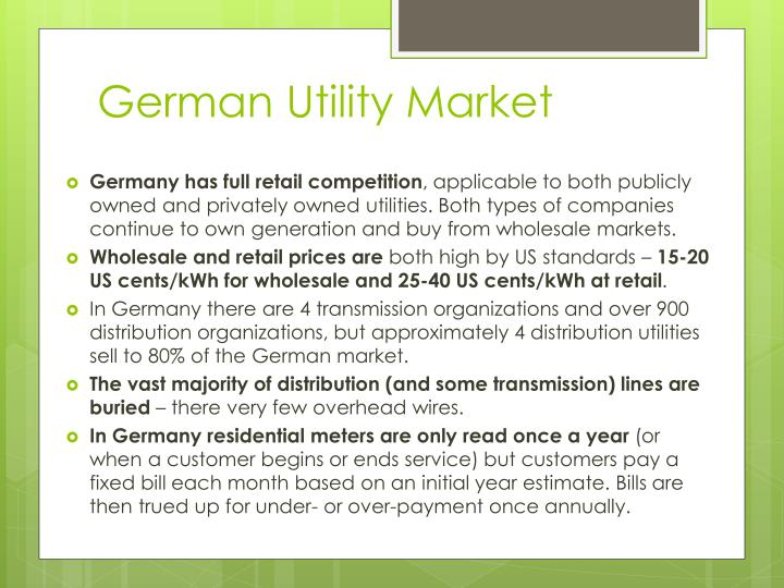 German Utility Market