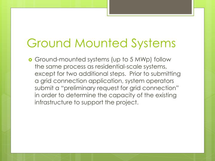 Ground Mounted