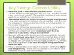 key findings german utilities
