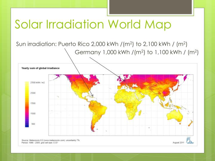 Solar Irradiation World Map
