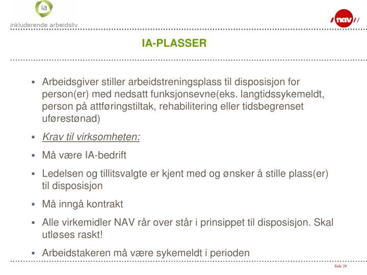 IA-PLASSER