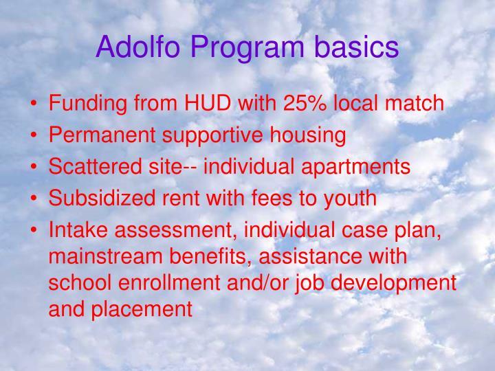 Adolfo Program basics