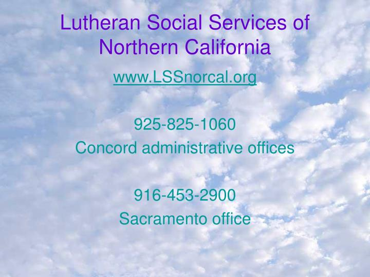Lutheran Social Services of Northern California