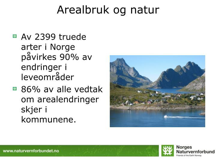 Arealbruk og natur