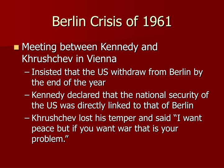 Berlin Crisis of 1961