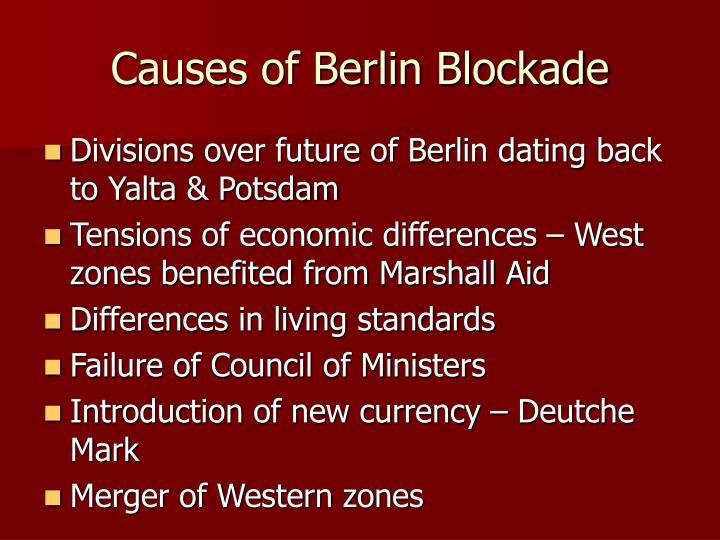 Causes of Berlin Blockade