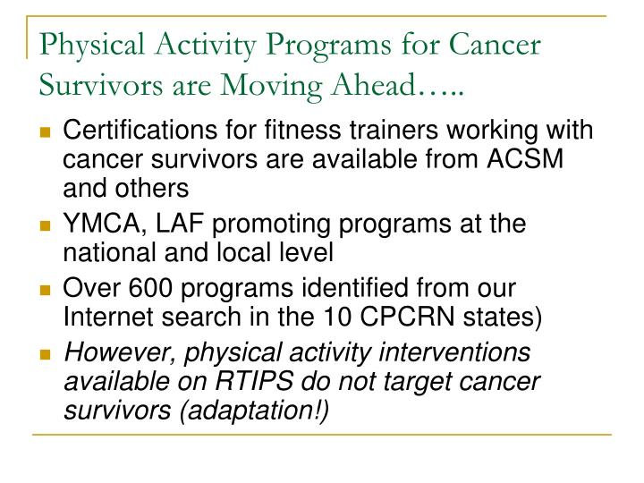 Physical Activity and Cancer Survivorship