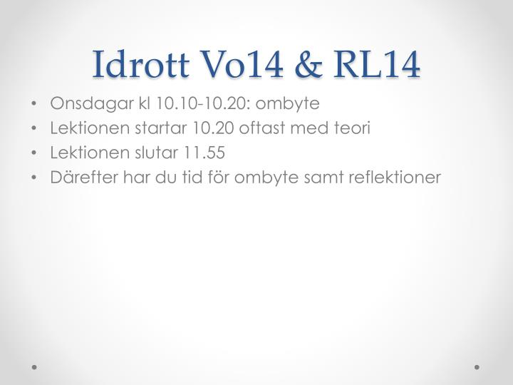 Idrott Vo14 & RL14