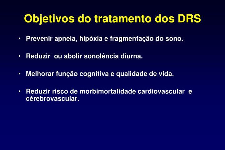 Objetivos do tratamento dos DRS