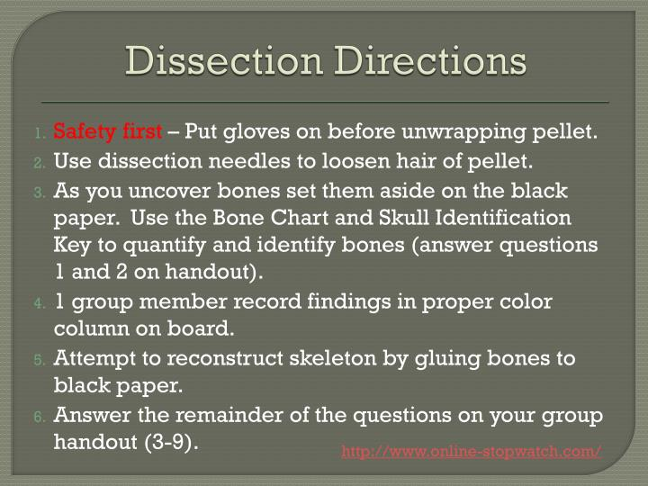 Dissection Directions