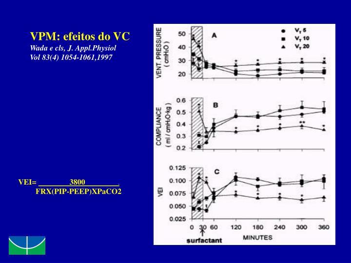 VPM: efeitos do VC