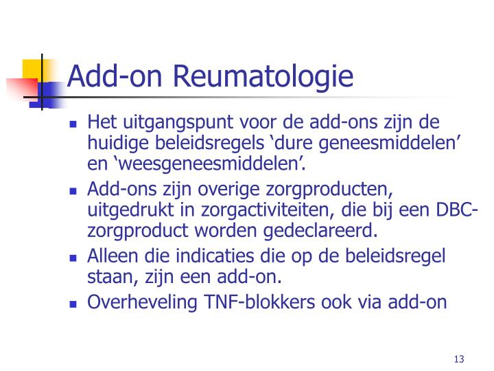Add-on Reumatologie