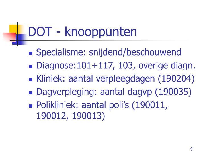 DOT - knooppunten