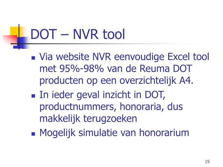 DOT – NVR tool