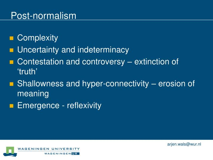 Post-normalism