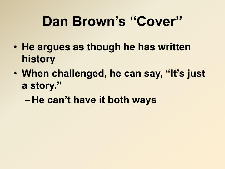 Dan brown s cover