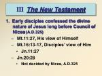 iii the new testament