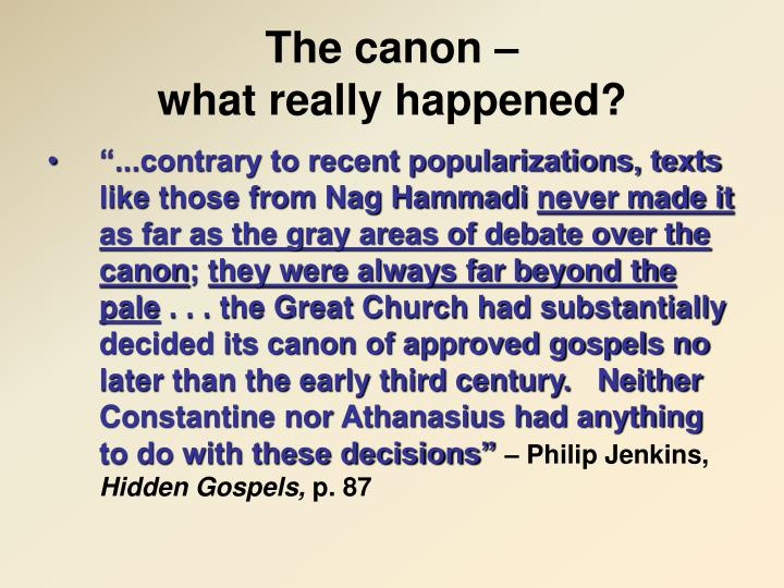 The canon –