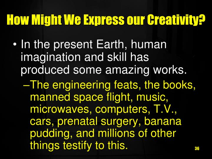 How Might We Express our Creativity?