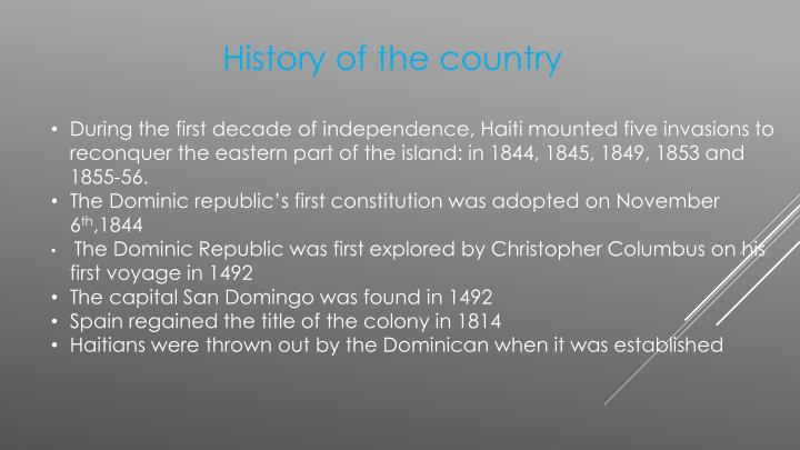 History of the country