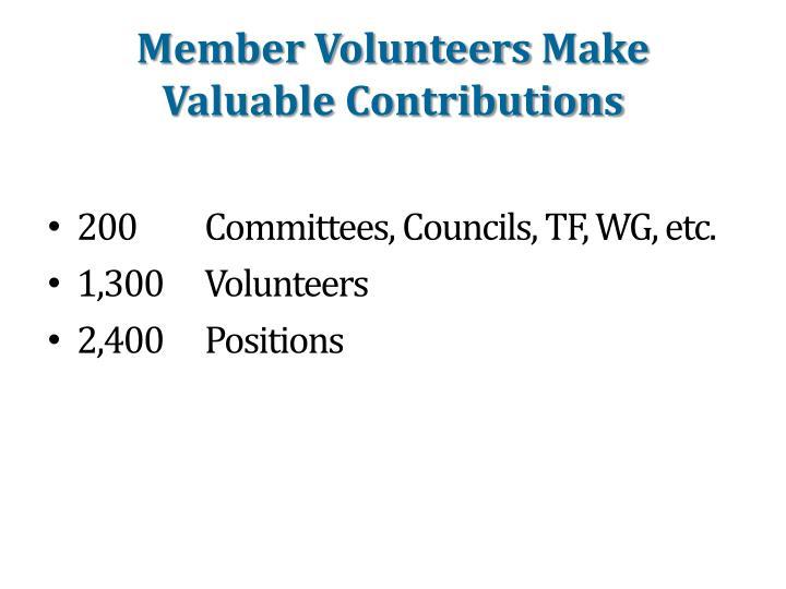 Member Volunteers