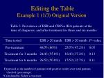 editing the table example 1 1 3 original version
