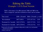 editing the table example 1 3 3 final version