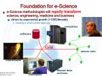 foundation for e science