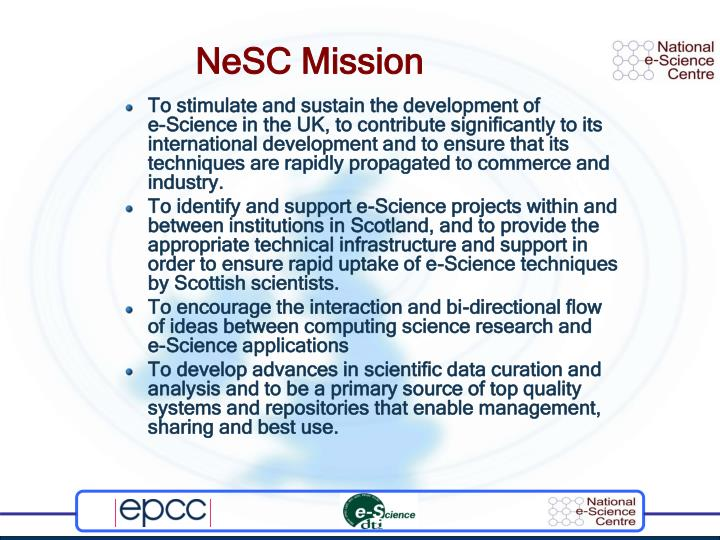 NeSC Mission