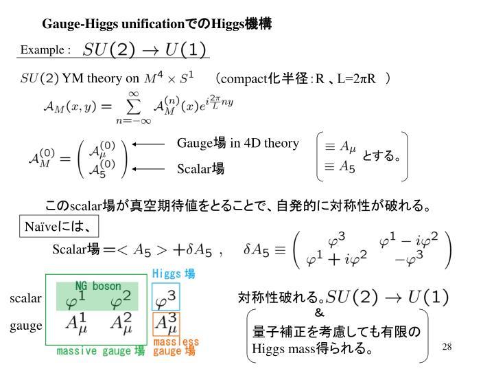 Gauge-Higgs unification