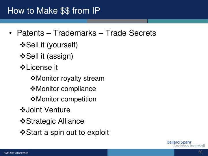 How to Make $$ from IP