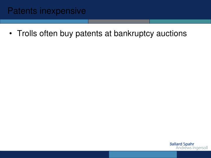 Patents inexpensive