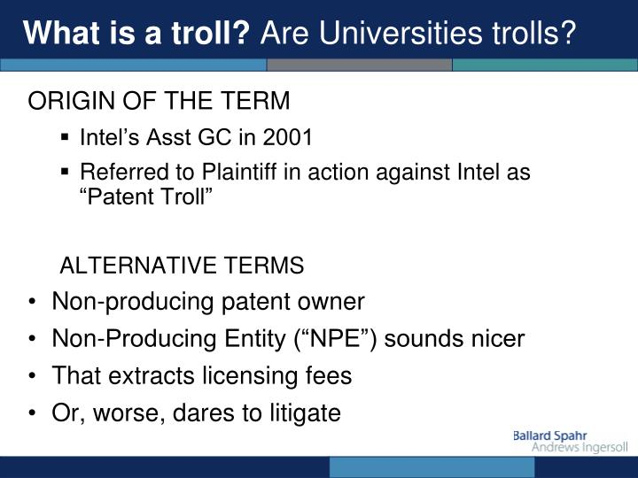 What is a troll?
