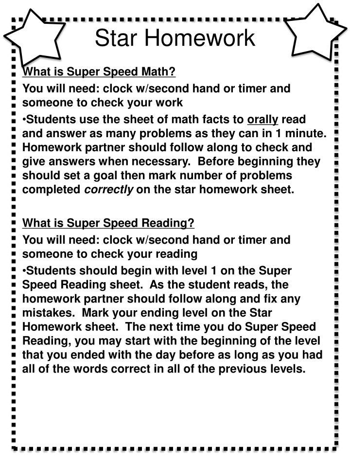 Star Homework