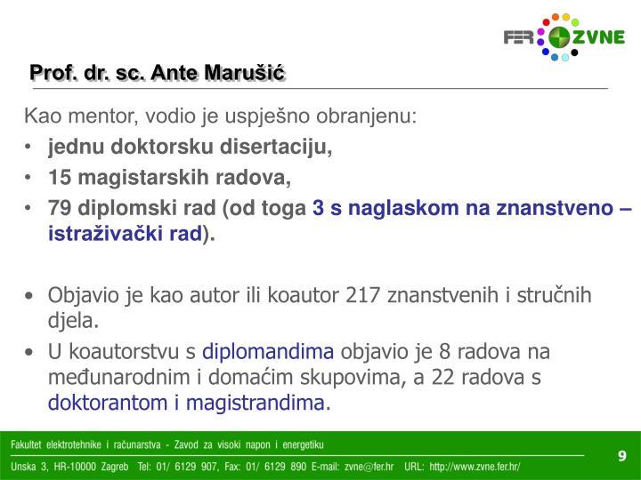 Prof. dr. sc. Ante Marušić