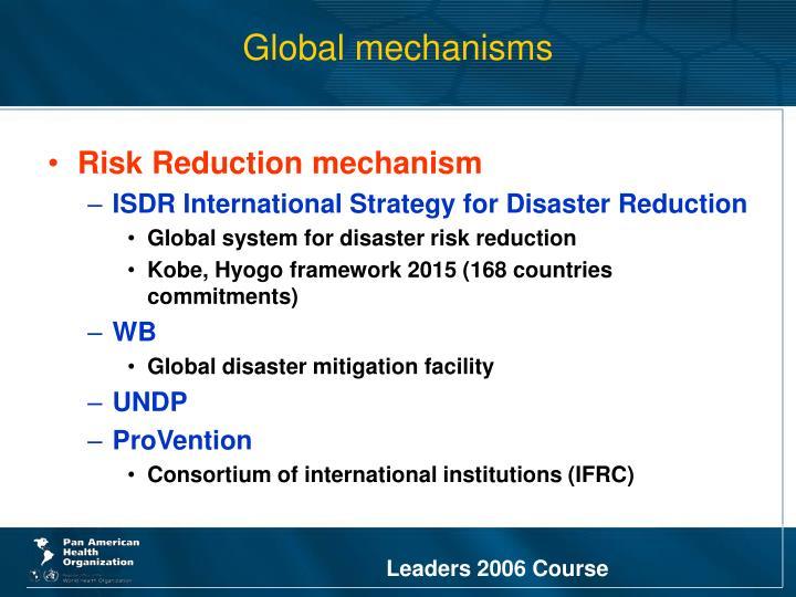 Global mechanisms