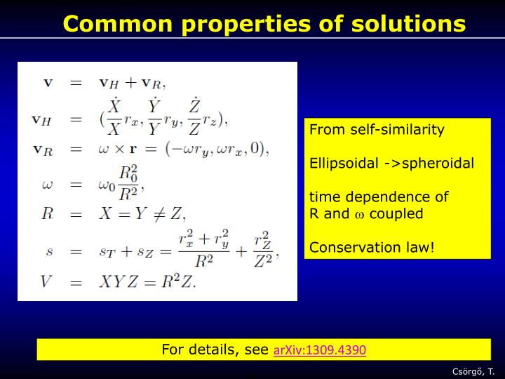 Common properties of solutions