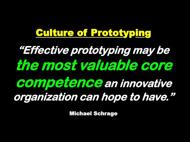 Culture of Protot