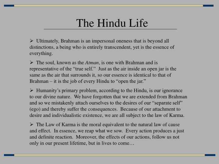 The Hindu Life