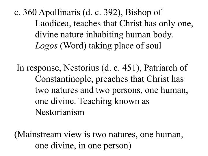 c. 360 Apollinaris (d. c. 392), Bishop of