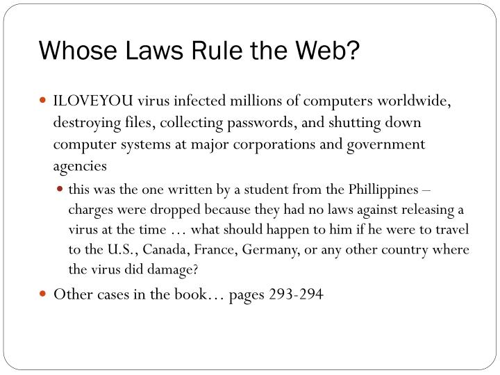 Whose Laws Rule the Web?