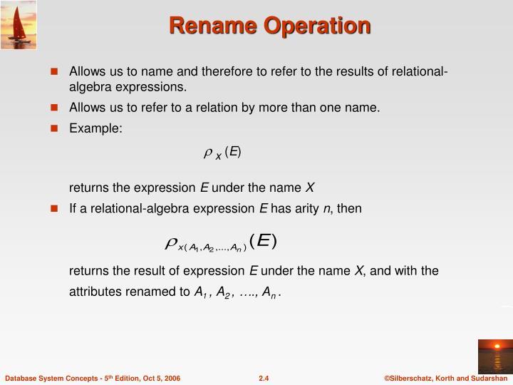 Rename Operation